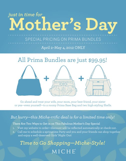 Mothers Day promotion, special pricing, miche, shells, base, prima, fabric, souchy